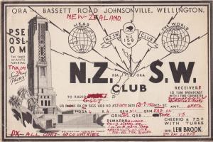 Wellington New Zealand QSL QRA  Radio 1934 Antique Postcard Card