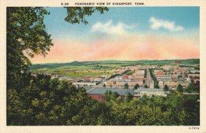 Panoramic View of Kingsport, Tenn. Linen Postcard