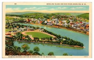Ohio River Bridge, Huntington, WV Postcard *5F2