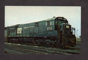 PA Penn Central Railroad Train Engine 6556 Harrisburg Pennsylvania Postcard