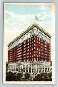 Columbus OH-Ohio, The New Dashler Hotel, Vintage Postcard