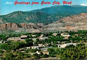 Utah Greetings From Cedar City Looking East 1979