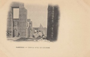 LUXOR, Egypt, 1900-10s; Karnak - Temple Avec le Colosse