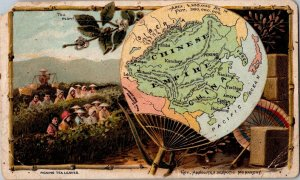 Arbuckle Bros. Coffee China Chinese Empire Map Fan 1880s-90s trade card