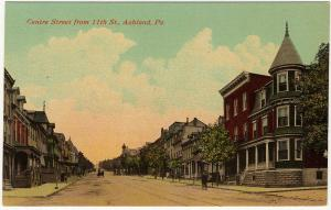 1907-15 Ashland PA Centre Street From 11th St. Peter H. Loeper RARE DB Postcard