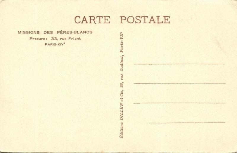 French West Africa, Native Man Facial Scarification (1920s) Mission Postcard