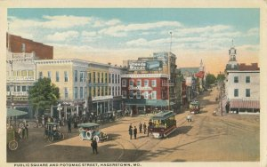 HAGERSTOWN , Maryland , 1916 ; Public Square & Potomac Street