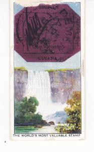 Cigarette Card Ardath STAMPS Rare & Interesting No 4 British Guiana