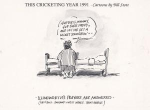 Ray Illingworth Cricket Commentator Comic Limited Edition of 1000 Postcard