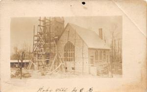 F19/ Hopeville Pennsylvania RPPC Postcard M.E. Church Construction