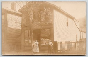 Real Photo Postcard~Ladies in Front of Home Bakery~Emil P Sch* Baker~1908 RPPC
