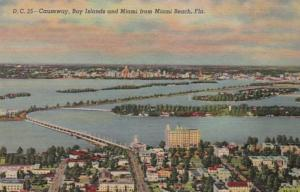 Florida Causeway Bay Islands and Miami From Miami Beach Curteich