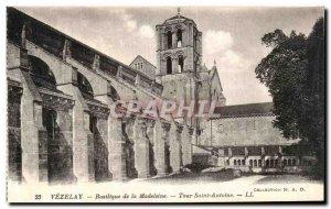 Postcard Old Vezelay Basilica Madeleine Tour Saint Antoine