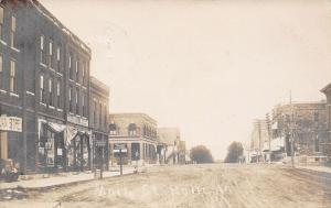 Rolfe Iowa~Main Street~RB Gibbs Dry Goods~Ladies & Gents Furnishings~1911 RPPC