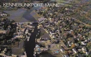 Maine Kennebunkport Aerial View Kennebunk River At Low Tide