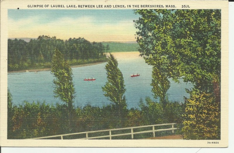 Glimpse Of Laurel Lake, Between Lee And Lenox, In The Berkshires, Mass.