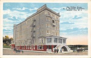 Atlantic City New Jersey~The Phillips House~Hotel~Fire Escapes~1920s Postcard