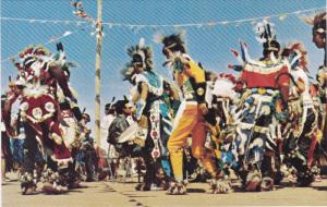 CALGARY, Alberta, Canada, 1940-1960's; Indians Perform Ceremonial Dance At Ca...