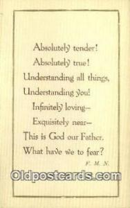 Sayings Religion, Religious Old Vintage Antique Postcard Post Cards