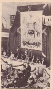 Canada Montreal Windsor Hotel Banquet For King George VI and Queen Elizabeth ...
