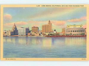 Linen PANORAMIC VIEW Long Beach - Los Angeles California CA hp4693