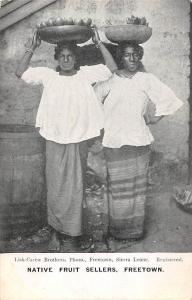 Sierra Leone Freetown Native Fruit Sellers, Commerce