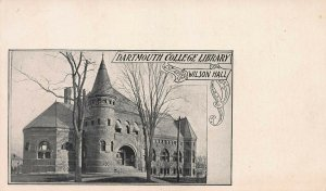 Dartmouth College Library, Wilson Hall, Early Postcard, Undivided Back, Unused