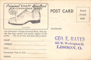 E73/ Lisbon Columbiana County Ohio Postcard Hayes c40s Knapp Shoe Store Ad