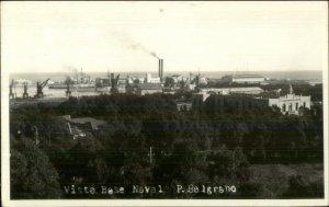 P. Belgrano Naval Base - Buenos Aires??? Real Photo Postcard