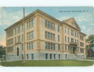 Divided-Back HIGH SCHOOL SCENE Glens Falls - Lake George New York NY E2433