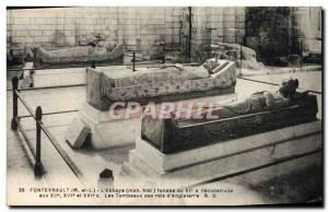 Old Postcard Fontevrault L & # 39abbaye The tombs of the kings & # 39Angleterre