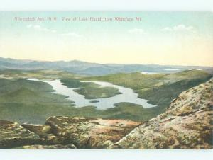 Divided-back LAKE SCENE Adirondacks - Lake Placid New York NY AE5032