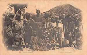 Africa Lahobe Family African Natives Antique Postcard J67735