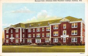 Conway~Arkansas State Teachers College~Bernard Hall~1941 Linen Postcard