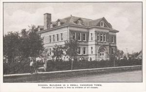 School Building In A Small Canadian Town, CANADA, 1910-1920s