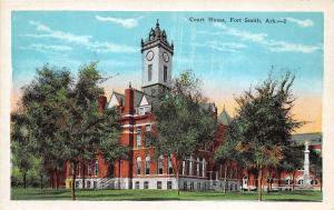 Arkansas Ar Postcard FORT SMITH c1920 COURT HOUSE Building