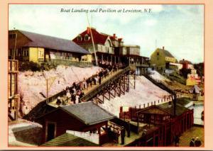 New York Lewiston Boat Landing and Pavilion Circa 1910
