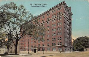 Grand Rapids Michigan~Furniture Temple Building~1916 Postcard