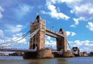London Postcard, Tower Bridge, River Thames, England, UK, Travel, Landscape Q12
