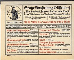 Germany - Handbill Dusseldorf Expo Nov. 1915