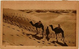 CPA AK Lehnert & Landrock 172 Au désert TUNISIE (873860)