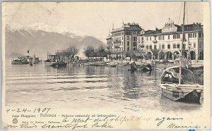 55918 -- CARTOLINA d'Epoca - LAGO MAGGIORE:  Pallanza 1907