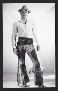 ARCADE CARD Cowboy Entertainer Glenn Ford