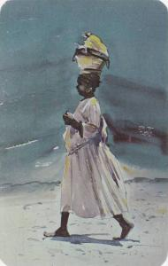 Water Color by Louis J. Kaep, Early to Market, Picturesque Haiti all roads le...