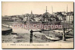 Postcard Pornic Old Port Quays was down Maree