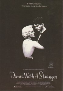 (an89) Dance with a Stranger Richardson and Everett - Film Advertising Postcard