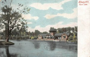 LP27 Albany  New York Vintage Postcard Park Lake