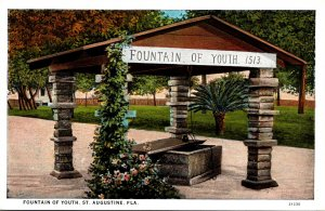Florida St Augustine Fountain Of Youth Curteich
