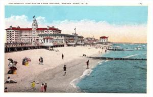 New Jersey  Atlantic City   Boardwalk and beach from arcade