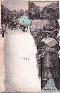 Brunig 1899 Switzerland Train Railway Brienz Brunig Postcard